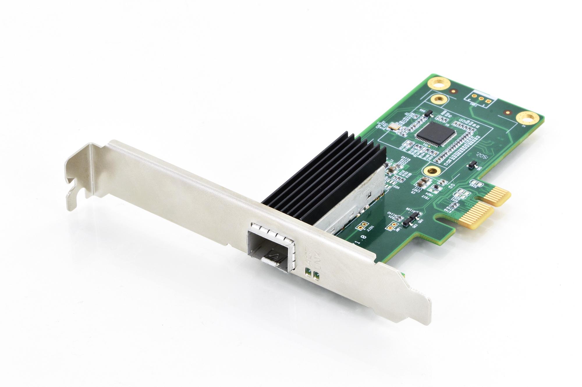 Scheda pci-express gigabit per moduli sfp fibra ottica