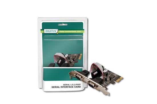 SCHEDA PCI EXPRESS CON 2 PORTE SERIALI 9 POLI