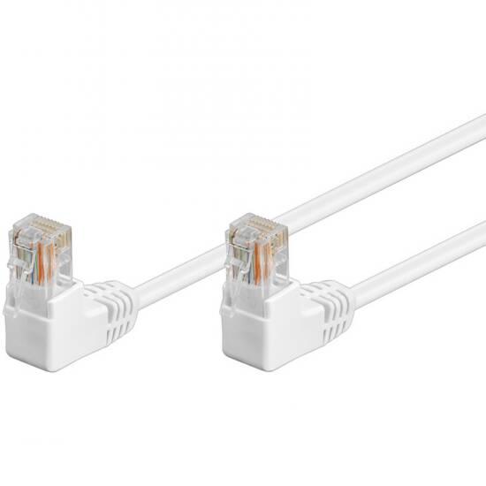 Cavo rete utp cat.5e connettori rj45 a 90 gradi mt 0,25