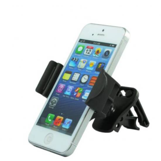 Supporto universale per smartphone da auto con aggancio per griglia ventilazione